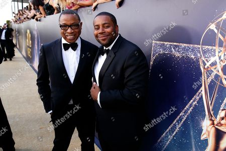 Hayma Washington, Keenan Thompson. Hayma Washington, Chairman and CEO of the Television Academy, and Keenan Thompson arrive at the 70th Primetime Emmy Awards, at the Microsoft Theater in Los Angeles