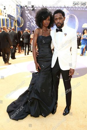 Xosha Roquemore, Lakeith Stanfield. Xosha Roquemore, left, and Lakeith Stanfield arrive at the 70th Primetime Emmy Awards, at the Microsoft Theater in Los Angeles