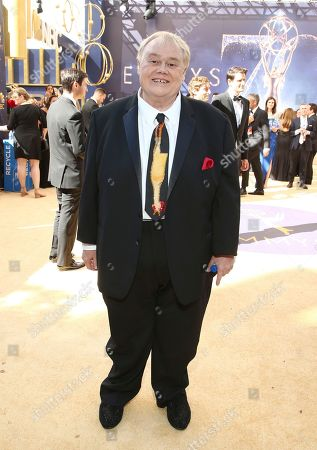 Louie Anderson arrives at the 70th Primetime Emmy Awards, at the Microsoft Theater in Los Angeles