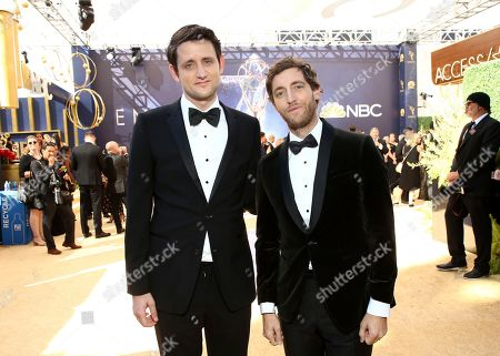 Zach Woods, Thomas Middleditch. Zach Woods, left, and Thomas Middleditch arrive at the 70th Primetime Emmy Awards, at the Microsoft Theater in Los Angeles