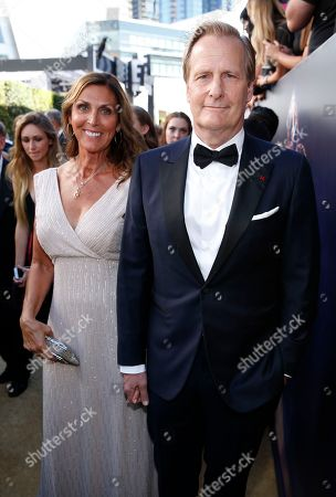 Kathleen Rosemary Treado, Jeff Daniels. Jeff Daniels, right, and Kathleen Rosemary Treado arrive at the 70th Primetime Emmy Awards, at the Microsoft Theater in Los Angeles