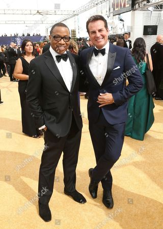Hayma Washington, Vincent De Paul. Hayma Washington, Chairman and CEO of the Television Academy, left, and Vincent De Paul arrive at the 70th Primetime Emmy Awards, at the Microsoft Theater in Los Angeles