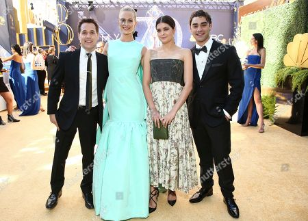 T.R. Knight, Poppy Delevingne, Samantha Colley, Alex Rich. T.R. Knight, from left, Poppy Delevingne, Samantha Colley and Alex Rich arrive at the 70th Primetime Emmy Awards, at the Microsoft Theater in Los Angeles