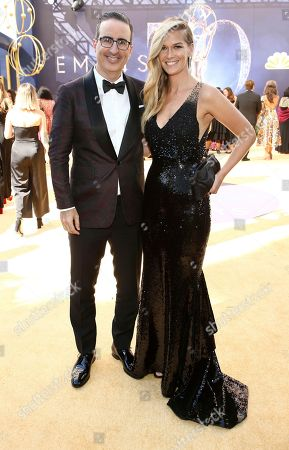 John Oliver, Kate Norley. John Oliver and Kate Norley arrive at the 70th Primetime Emmy Awards, at the Microsoft Theater in Los Angeles