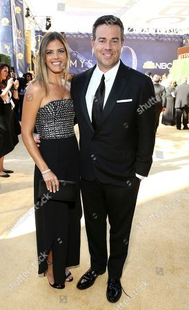 Carson Daly, Siri Pinter. Siri Pinter and Carson Daly arrive at the 70th Primetime Emmy Awards, at the Microsoft Theater in Los Angeles