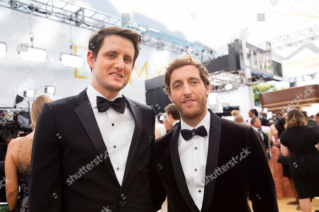 Thomas MIddleditch, Zach Woods. Thomas Middleditch and Zach Woods arrive at the 70th Primetime Emmy Awards, at the Microsoft Theater in Los Angeles