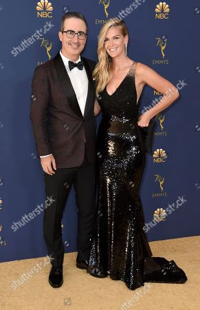 John Oliver, Kate Norley. John Oliver, left, and Kate Norley arrive at the 70th Primetime Emmy Awards, at the Microsoft Theater in Los Angeles