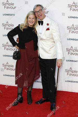 Paul Feig, Laurie Karon. Film DIrector Paul Feig and partner Laurie Karon pose for photographers on arrival at the premiere of the film 'A Simple Favour
