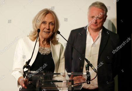 Eva Jiricna, Ben Evans. Eva Jiricna makes a speech after receiving the London Design Festival 2018 Lifetime Achievement Medal, as festival director Ben Evans stands near her at a ceremony in London, . Jiricna is a Czech-born architect based in London since 1968. A Royal Academician, CBE and royal designer for industry, she began her career at the Greater London Council, before moving on to the Louis de Soissons partnership and Richard Rogers partnership, where she was responsible for the interior design of the Lloyds of London building