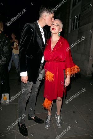 Stock Photo of Rain Dove and Rose McGowan