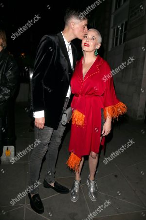 Stock Picture of Rain Dove and Rose McGowan