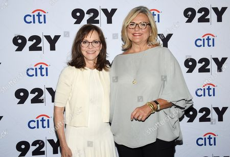 "Stock Photo of Sally Field, Cynthia McFadden. Actress Sally Field, left, poses with journalist Cynthia McFadden before their appearance at the 92nd Street Y to discuss her autobiography ""In Pieces"", in New York"