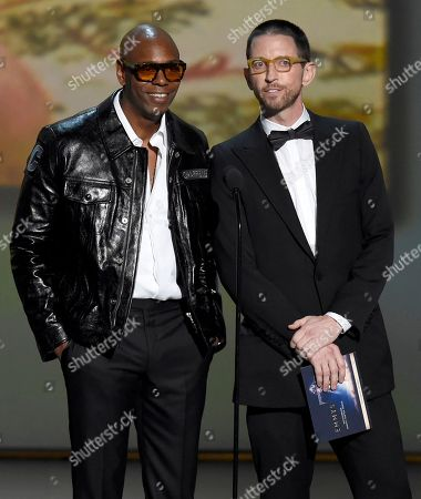 Stock Photo of Dave Chappelle, Neal Brennan. Dave Chappelle, left, and Neal Brennan present the award for outstanding variety sketch series at the 70th Primetime Emmy Awards, at the Microsoft Theater in Los Angeles