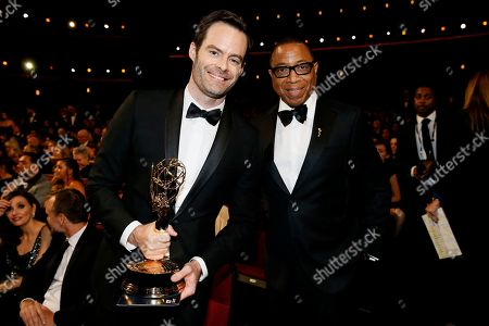 "Bill Hader, Hayma Washington. Bill Hader, winner of the award for outstanding lead actor in a comedy series for ""Barry"", left, and Hayma Washington, chairman and CEO of the Television Academy, attend the 70th Primetime Emmy Awards,"