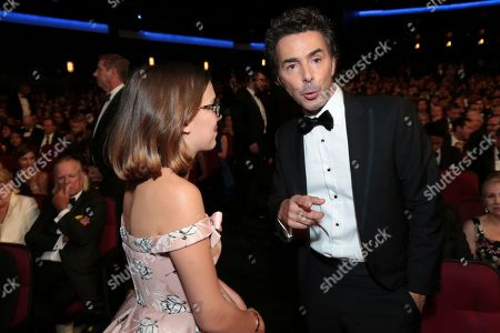 Millie Bobby Brown, Shawn Levy. Millie Bobby Brown, left, and Shawn Levy at the 70th Primetime Emmy Awards, at the Microsoft Theater in Los Angeles