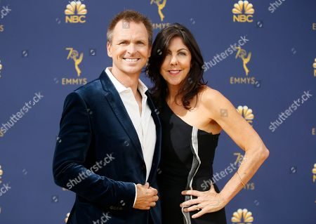 Stock Photo of Phil Keoghan, Louise Rodrigues. Phil Keoghan, left, and Louise Rodrigues