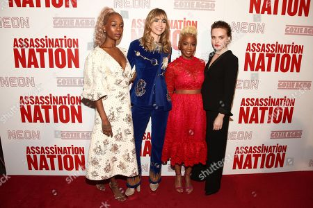 "Abra, Suki Waterhouse, Anika Noni Rose, Odessa Young. Abra, from left, Suki Waterhouse, Anika Noni Rose and Odessa Young attend a special screening of ""Assassination Nation"" at Metrograph, in New York"