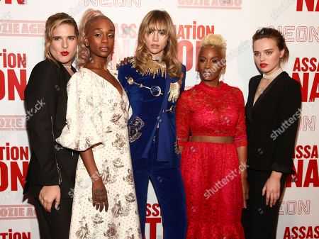 "Hari Nef, Abra, Suki Waterhouse, Anika Noni Rose, Odessa Young. Hari Nef, from left, Abra, Suki Waterhouse, Anika Noni Rose and Odessa Young attend a special screening of ""Assassination Nation"" at Metrograph, in New York"