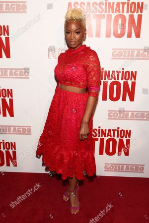 """Anika Noni Rose attends a special screening of """"Assassination Nation"""" at Metrograph, in New York"""