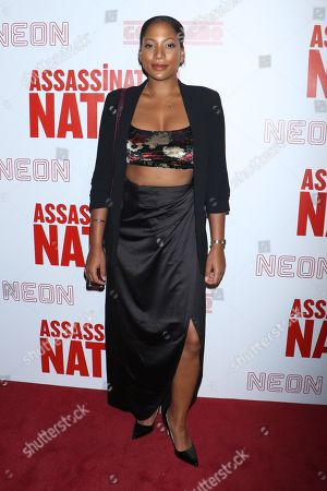 Editorial photo of 'Assassination Nation' film premiere, New York, USA - 17 Sep 2018