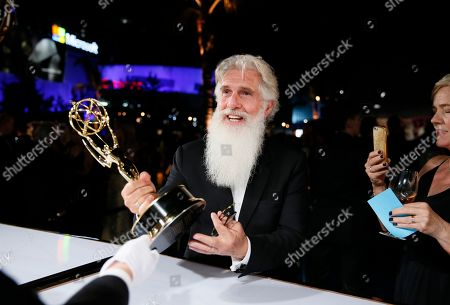 """Chris Newman, winner of the award for outstanding drama series for """"Game of Thrones"""", at the Governors Ball Winners Circle at the 70th Primetime Emmy Awards, at the Microsoft Theater in Los Angeles"""