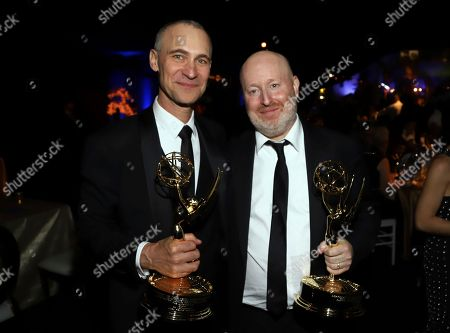 Joel Fields, Joe Weisberg. Joel Fields and Joe Weisberg attend the Governors Ball for the 70th Primetime Emmy Awards, at the Microsoft Theater in Los Angeles