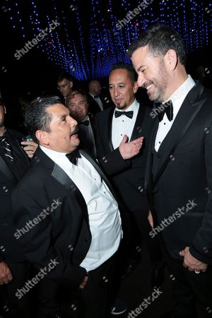 Guillermo Rodriguez, Jimmy Kimmel. Guillermo Rodriguez, left, and Jimmy Kimmel attend the Governors Ball for the 70th Primetime Emmy Awards, at the Microsoft Theater in Los Angeles