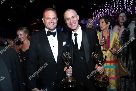 Bradford Simpson, Joel Fields. Bradford Simpson, left, and Joel Fields attend the Governors Ball for the 70th Primetime Emmy Awards, at the Microsoft Theater in Los Angeles