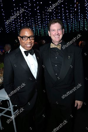 Stock Photo of Hayma Washington, Chairman and CEO of the Television Academy, left, and guest attend the Governors Ball for the 70th Primetime Emmy Awards, at the Microsoft Theater in Los Angeles