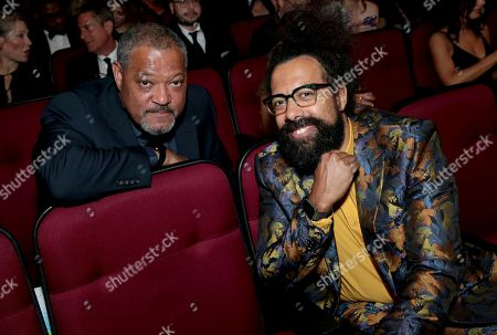 Laurence Fishburne, Reggie Watts. Laurence Fishburne, left, and Reggie Watts attend the 70th Primetime Emmy Awards, at the Microsoft Theater in Los Angeles