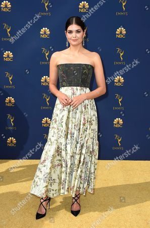 Samantha Colley arrives at the 70th Primetime Emmy Awards, at the Microsoft Theater in Los Angeles