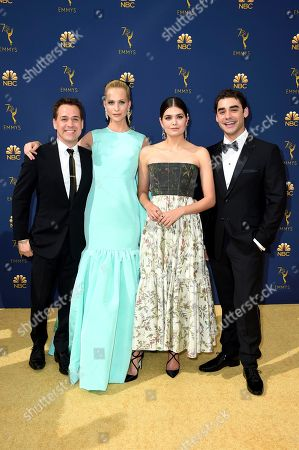 T.R. Knight, Poppy Delevingne, Samantha Colley, Alex Rich. T.R. Knight, Poppy Delevingne, Samantha Colley and Alex Rich arrives at the 70th Primetime Emmy Awards, at the Microsoft Theater in Los Angeles