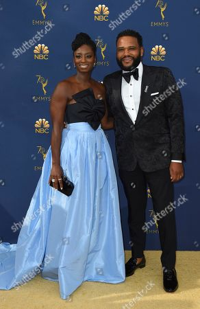 Alvina Stewart, Anthony Anderson. Alvina Stewart and Anthony Anderson arrive at the 70th Primetime Emmy Awards, at the Microsoft Theater in Los Angeles