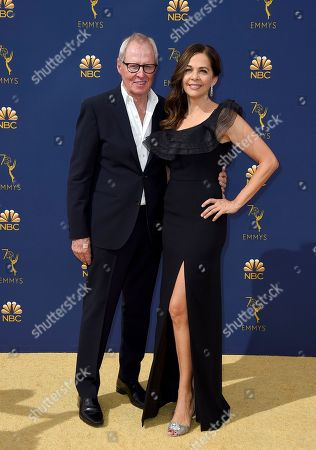 Bertram van Munster, Elise Doganieri. Bertram van Munster and Elise Doganieri arrive at the 70th Primetime Emmy Awards, at the Microsoft Theater in Los Angeles
