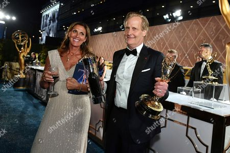 Kathleen Rosemary Treado, Jeff Daniels. Jeff Daniels, right, and Kathleen Rosemary Treado attend the 70th Primetime Emmy Awards Governors Ball, at the Microsoft Theater in Los Angeles