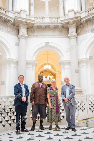 Steve McQueen, Alex Farquarson, Director of Tate Britain, Maria Balshaw, Director of Tate andJames Lingwood, Co-Director of Artangel