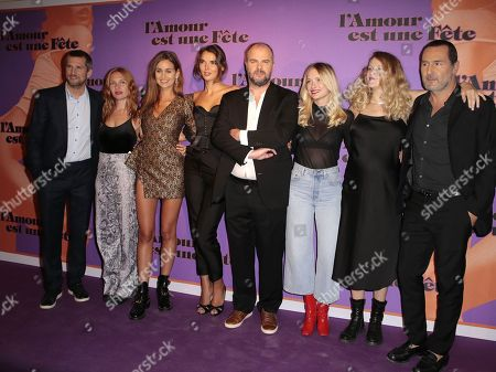 Guillaume Canet and Gilles Lellouche with Xavier Beauvois and cast members