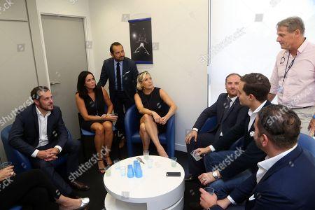 Nicolas Bay, Catherine Griset, Sebastien Chenu, Marine Le Pen, Flavio di Muro (depute italien de la Lega), Philippe Olivier, Maximilian Krauss FPO (Vice maire de Vienne)