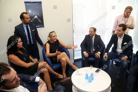 Stock Image of Nicolas Bay, Catherine Griset, Sebastien Chenu, Marine Le Pen, Flavio di Muro (depute italien de la Lega), Philippe Olivier, Maximilian Krauss FPO (Vice maire de Vienne)