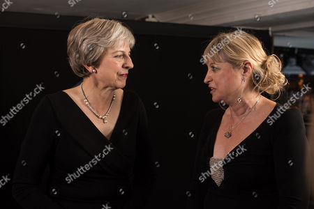 Stock Picture of Prime Minister Theresa May with Marie van der Zyl, Chairperson of the Board of Deputies of British Jews.