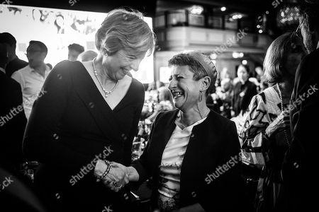 Prime Minister Theresa May with Rabbi Laura Janner Klausner, Senior Rabbi of Reform Judaism.