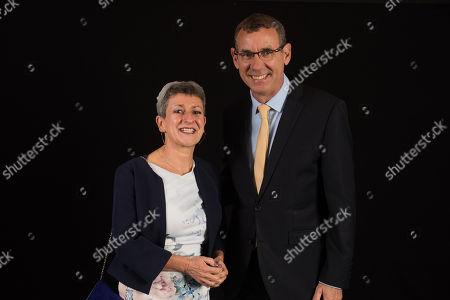 Rabbi Laura Janner-Klausner with Israeli Ambassador Mark Regev.