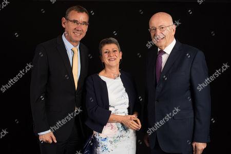 Israeli Ambassador Mark Regev, Rabbi Laura Janner-Klausner, Sir Trevor Chinn.