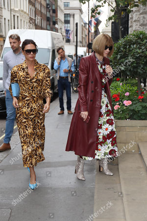 Victoria Beckham and Anna Wintour at the Victoria Beckham Store, Dover Street