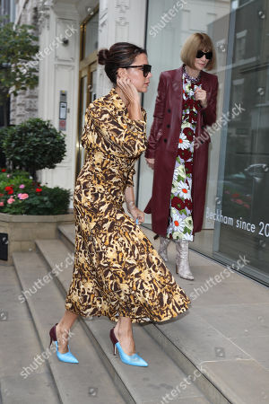 Stock Image of Victoria Beckham and Anna Wintour at the Victoria Beckham Store, Dover Street