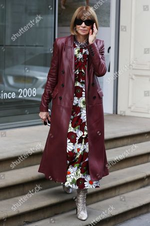 Anna Wintour at the Victoria Beckham Store, Dover Street