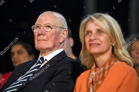 Former party leader Sir Menzies Campbell (left) attends the final day