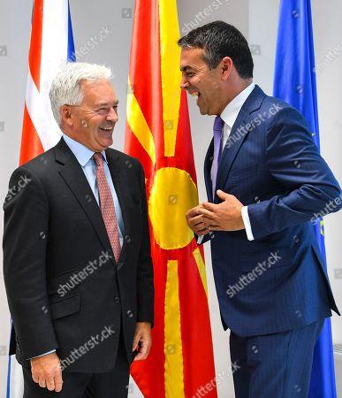 British Minister of State Sir Alan Duncan visit to Skopje