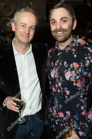 Dominic Cooke (Director) and Christopher Shinn (Author) attend the after party on Press Night for Now or Later at the Royal Court Theatre