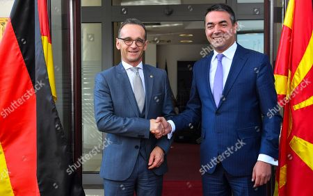 German Foreign Minister Heiko Maas visit to Skopje